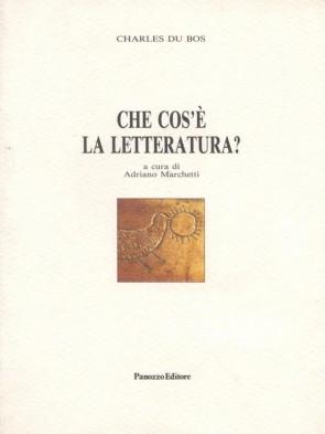 Charles du Bo che cos'è la letteratura Panozzo Editore