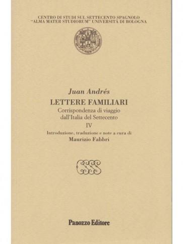 Lettere familiari IV Juan Andrés Panozzo Editore